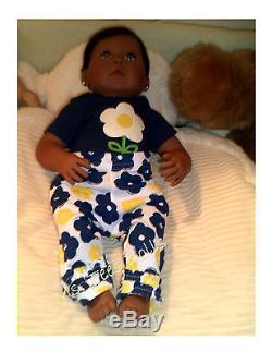 Reborn Newborn Ethnic African American Katrina 19 Infant doll