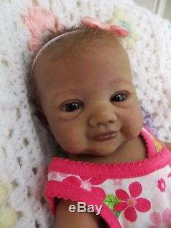 Reborn PROTOTYPE Riley by Sandy Faber Biracial Ethnic African American Baby Doll