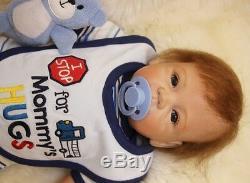 Reborn Toddler Dolls 22'' Handmade Lifelike Baby Silicone Vinyl Boy Girl Doll