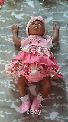 Reborn baby doll Biracial, Ethnic, African American, Black