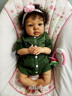Reborn baby doll, Shyann by Aleina Peterson, AA, Ethnic, Biracial, CUSTOM ORDER