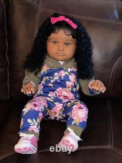 Reborn baby dolls african american girl