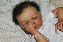Reborn baby sweet newborn African American baby girl Lacey with 3d skin OOAK