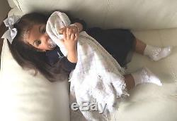 STUNNING AA African American Biracial Ethnic Reborn Toddler TIBBY Baby Girl Doll