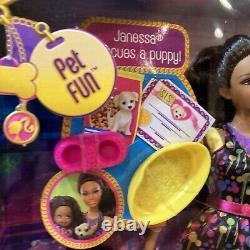 S. I. S So In Style Trichelle & Janessa Pet Fun Barbie Dolls Mattel 2012 NRFB New