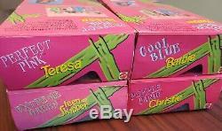 Set of 4 1997 CHRISTIE PURPLE PANIC EXTREME GREEN BARBIE SKIPPER TERESA PINK NIB