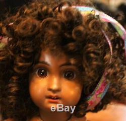 Size 5 Unmarked Twin to my other Jumeau listing Black Beautiful Jumeau Doll