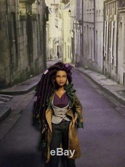 Stunning Ooak African American Barbie Doll With Purple Dreadlocks