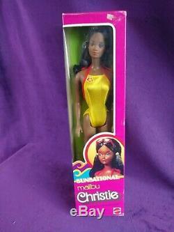 Sunsational Malibu Christie Barbie Doll 1981 NRFB AA Gorgeous Mod TNT #7745 BIN