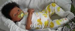 Sweet AA Biracial Ethnic BIG Reborn Baby Girl/Boy Doll CUSTOM Kitten