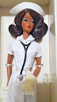 The African-American PLATINUM LABELNurse Fashion Model Silkstone Barbie NRFB