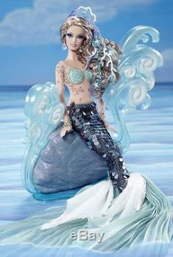 The Mermaid Fantasy Gold Label W3427 Barbie Doll in Mattel Shipper Box
