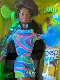 Totally Hair Barbie Doll African American Mattel 1991 MIB NRFB Groovy