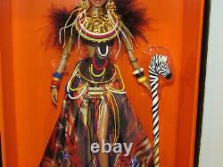 Tribal Beauty Barbie Doll NRFB 2012 Gold Label 6,000 Global Glamour #X8262
