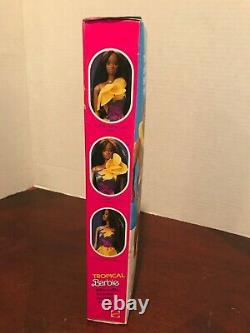 Tropical Black Barbie Doll #1022 Never Removed from Box 1985 Mattel, Inc