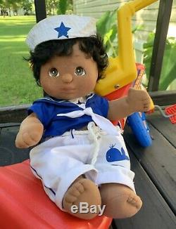 VINTAGE 1985 Mattel My Child Doll African American/Black BOY SAILOR