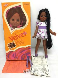 VINTAGE IDEAL CRISSY DOLL- VELVET withBEAUTY BRAIDER, BLACK AA DOLL WithORIGINAL BOX