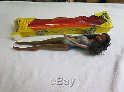 VINTAGE TWISTEE AFRICAN AMERICAN HONG KONG BARBIE CLONE WithPURPLE SUIT BY TOTSY