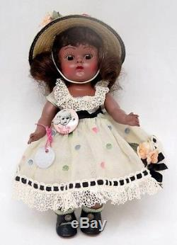 VINTAGE VOGUE GINNY 8 AFRICAN AMERICAN Hand Plastic Jointed Doll