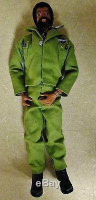 VTG 1964 Hasbro GI Joe African American Black Doll Adventure Team Commander