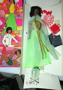 VTG 1972 Shindana Toys Doll Wanda Black African American in package w acc