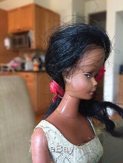 VTG RARE AA AFRICAN AMERICAN BARBIE CLONE SWIRL HAIR UNEEDA MISS BABETTE 60s HTF