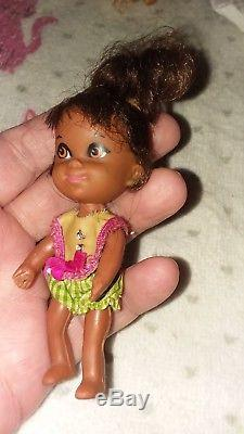 VTG SUPER RARE 1967 Little Liddle Kiddle Rolly Twiddle Doll African American