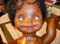 Very Rare 1972 African American Saucy Funny Faces Doll By Mattel Toy Co