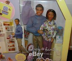 Very rare HAPPY FAMILY AA African American GRANDMA KITCHEN BARBIE Grandpa doll