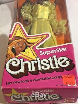 Vintage1976 Superstar Christie African American Barbie Doll 9950 Stand Variation