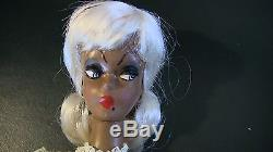 Vintage 1960s Lalka 12 Platinum African American Black Bild Lilli CLone Doll