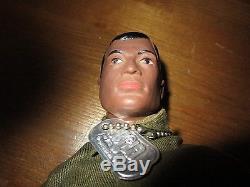 Vintage 1964 Hasbro GI JOE Figure Doll African American Made in USA w. Box & Acc