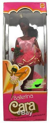 Vintage 1975 Ballerina Cara African American Barbie Doll Mattel 9528 NIB
