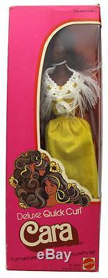 Vintage 1975 Deluxe Quick Curl Cara African American Barbie Doll Mattel 9220 NIB