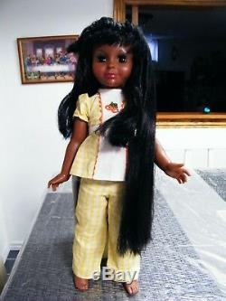 Vintage 1976 Ideal Tara The Authentic Black Doll Rare African American AA