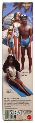 Vintage 1983 Sun Sun Gold Malibu Barbie African American Doll Mattel #7745 NIB