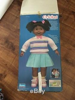 Vintage 1986 Playmates Cricket African American Talking Doll. Rare Collectible