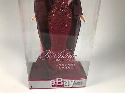 Vintage 2003 Collector Edition Barbie Birthstone January Garnet Doll C5331 NIB