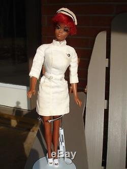 Vintage 60 Barbie Doll Mattel Diahann Carrol African American Black Julia Nurse