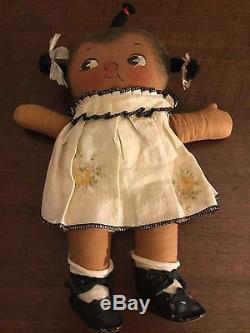 Vintage Americana Negro Cloth Doll African American Black Doll