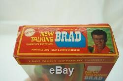 Vintage Barbie Doll Talking Brad 1969 African American Bend Leg 1114 Orig Box