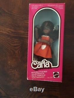 Vintage Barbie German Carla AA African American Doll Nrfb rare HTF
