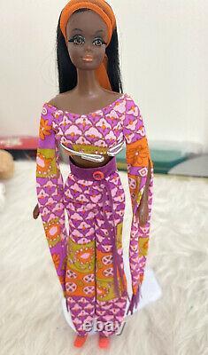 Vintage Barbie Live Action Christie MOD Era in Original Outfit + Accessories