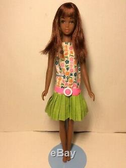 Vintage Barbie Rare Nm First Issue Black Francie In Slightly Summery Pak Dress