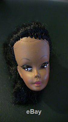 Vintage Black African American EEGEE Babbette HEAD BArbie size Uneeda Doll