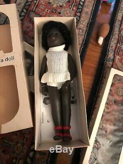 Vintage Black Sasha Doll Cora and Box Tag Original Clothes