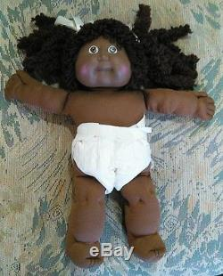 Vintage Cabbage Patch Kid Popcorn Brown Hair African American Girl. 1985
