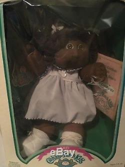 Vintage Cabbage Patch Kids African American Popcorn Curls Doll Emma Trina NIB