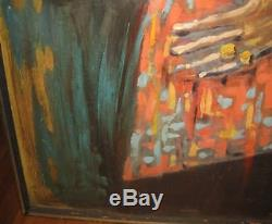 Vintage'ETHIOPIAN LADY OF TIME' Oil Painting MARIGONDA Listed AFRICAN AMERICAN
