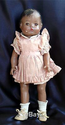 Vintage Effanbee African American Composition Doll 16